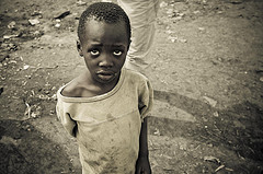picture of sad boy in Kenya