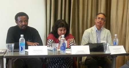 Members of the Participate network participating in the Panel discussion around the findings of our research. Left to right: Mwangi Waituru (The Seed Institute, Kenya); Nusrat Zerin (Sightsavers, Bangladesh) and Carlos Cortez Ruiz (UAM, Mexico)